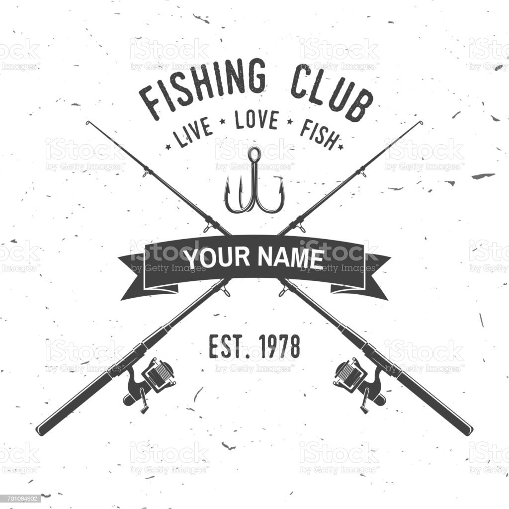 Fishing sport club. Vector illustration. vector art illustration