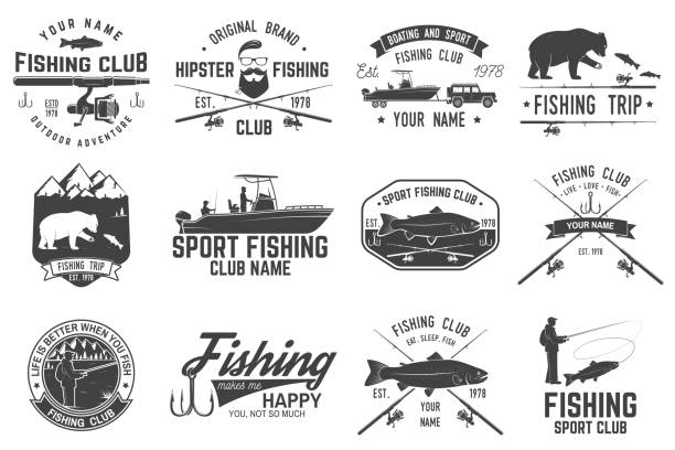 Fishing sport club. Vector illustration vector art illustration