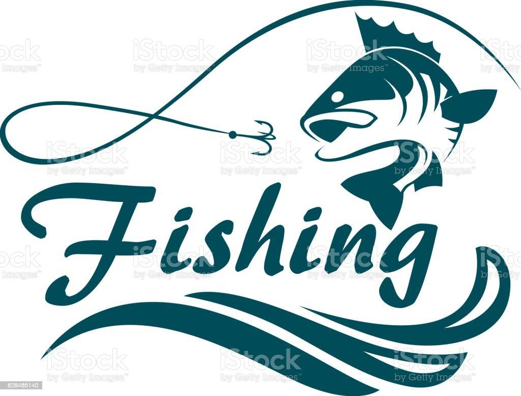 fishing sport emblem векторная иллюстрация
