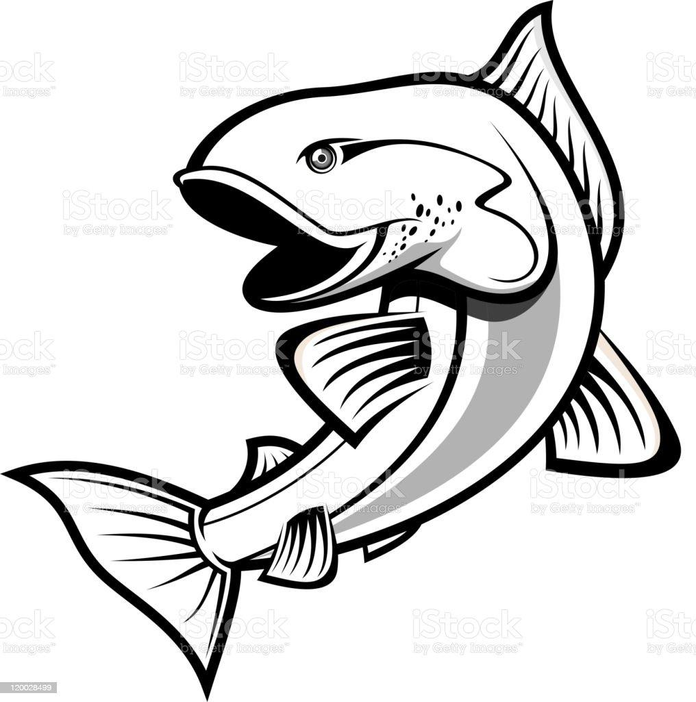 Fishing symbol vector art illustration