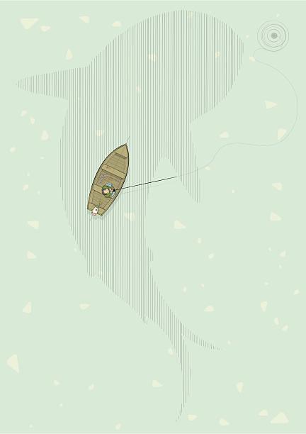 angelausflug - haifischköder stock-grafiken, -clipart, -cartoons und -symbole