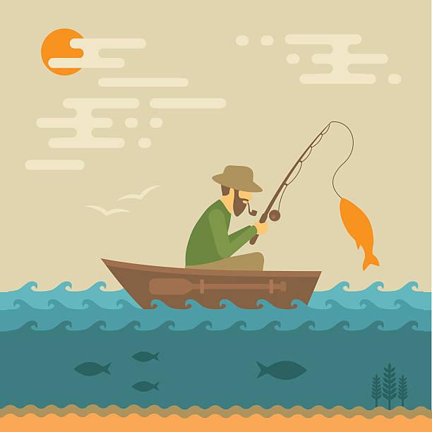 ilustraciones, imágenes clip art, dibujos animados e iconos de stock de de pesca - pesca