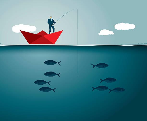 Fishing Illustration and Painting fishing line stock illustrations