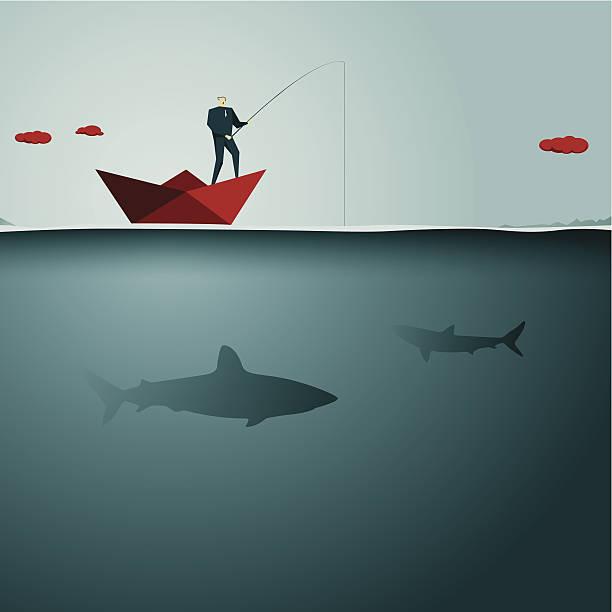 angeln - haifischköder stock-grafiken, -clipart, -cartoons und -symbole