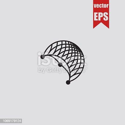 Fishnet icon.Vector illustration.