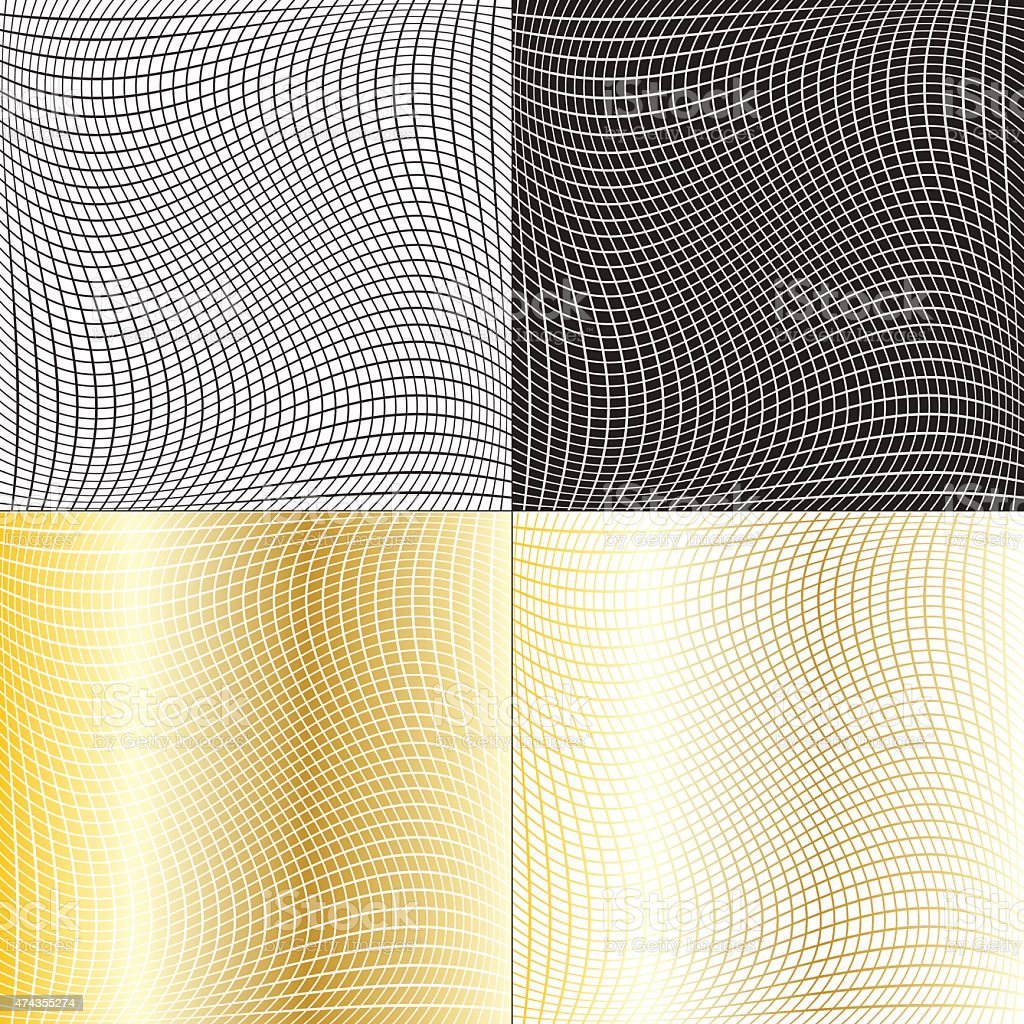 fishnet patterns vector art illustration