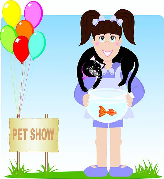 Fishy Friend vector art illustration