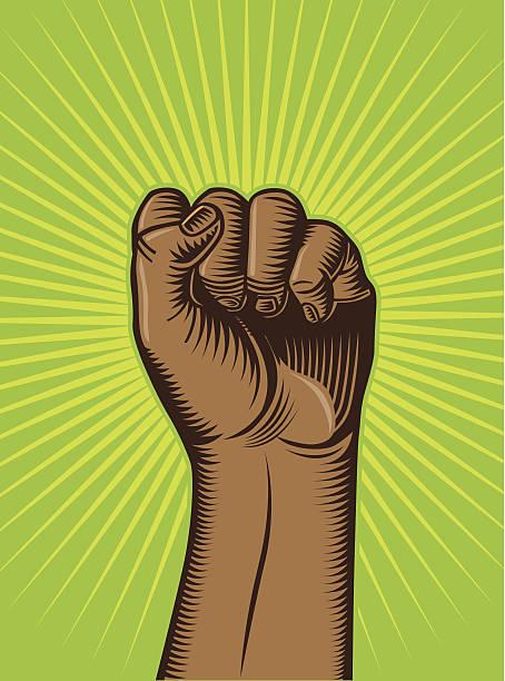 손 및 플래시 - black power stock illustrations