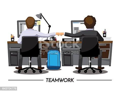 Fist Bump Kollegen Zusammenarbeit Teamwork Konzept ...