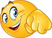 Emoticon giving a fist bump