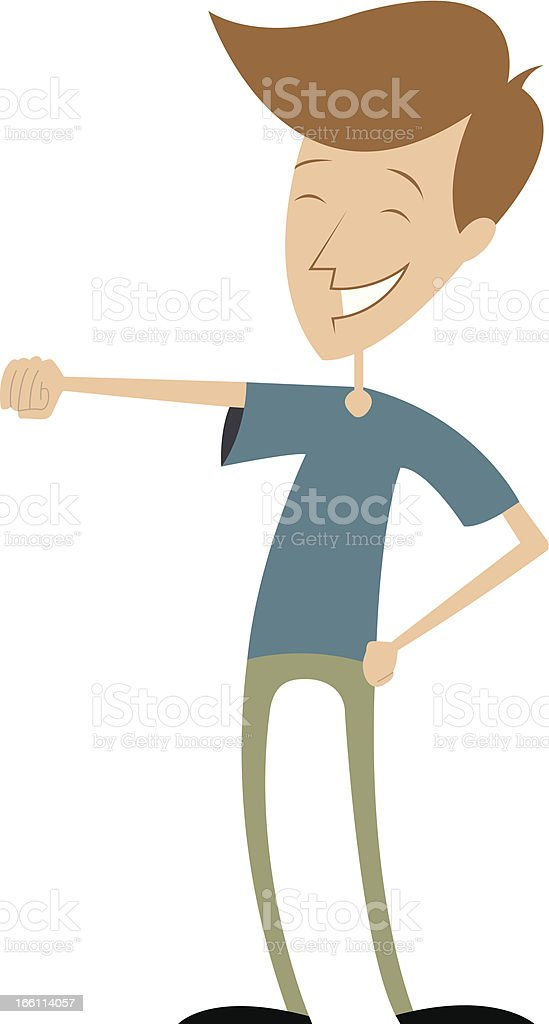 Fist Bump royalty-free stock vector art