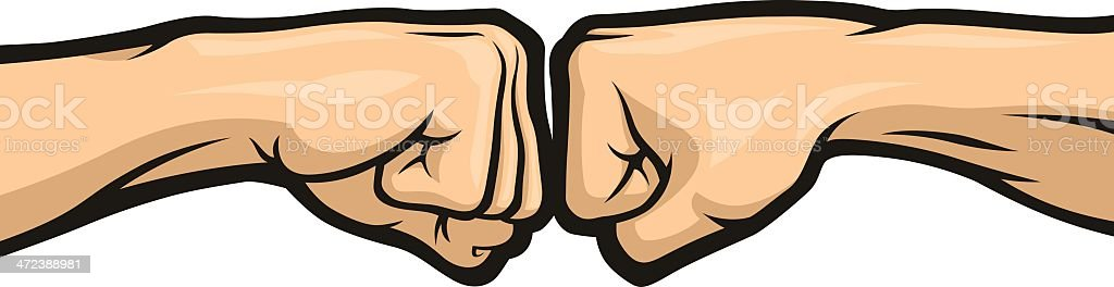 Fist Bump vector art illustration