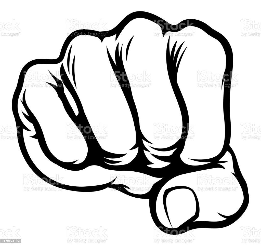 Fist Cartoon Comic Book Style Stock Illustration Download Image Now Istock