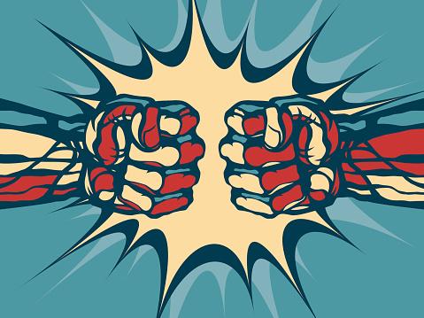 Fist fight.