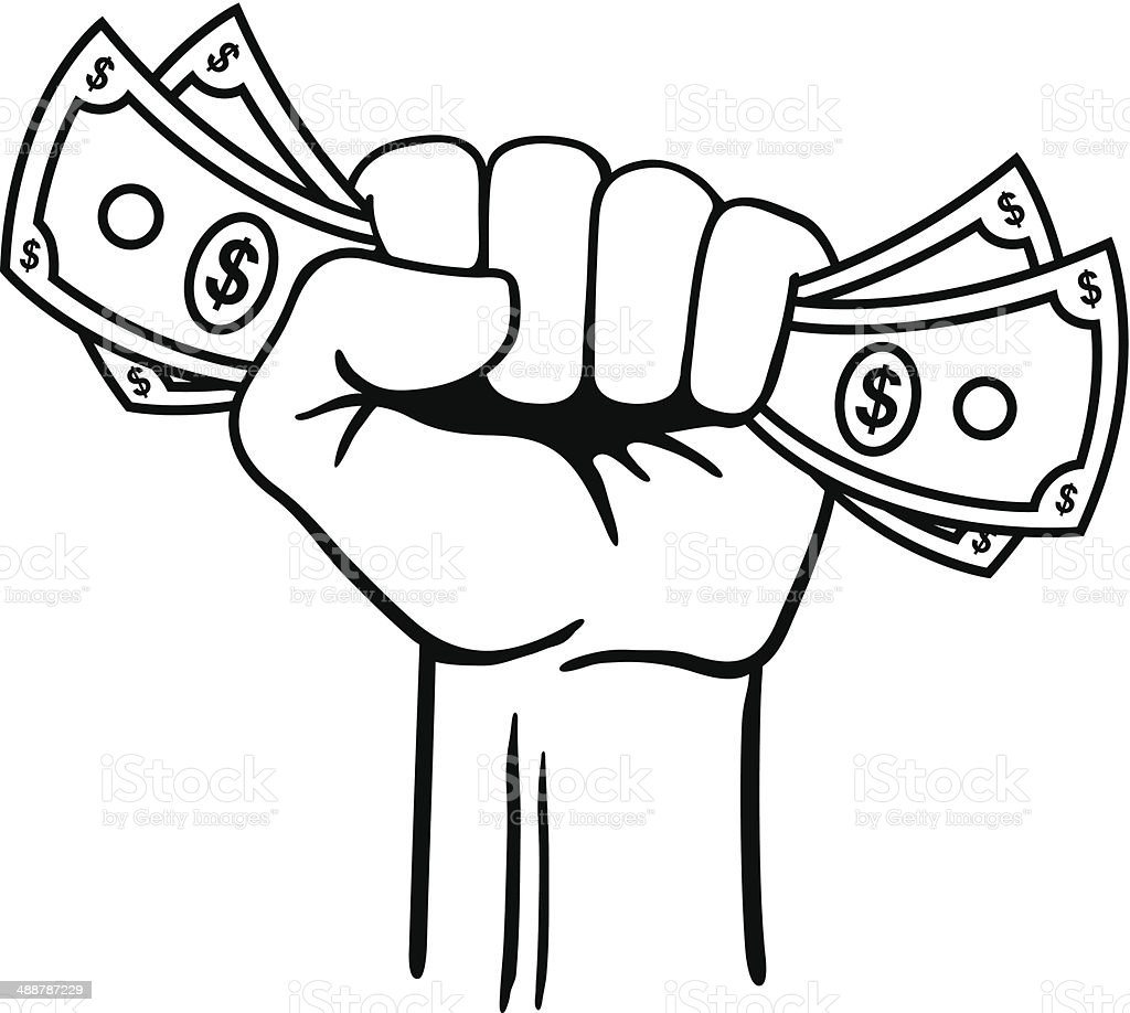 fist full of money stock vector art more images of american one rh istockphoto com