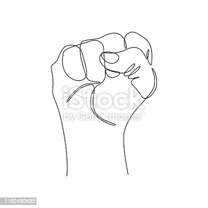 istock Fist gesture 1162490433