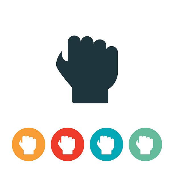 Fist Icon vector art illustration