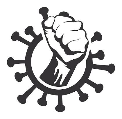 Fist in Coronavirus Icon
