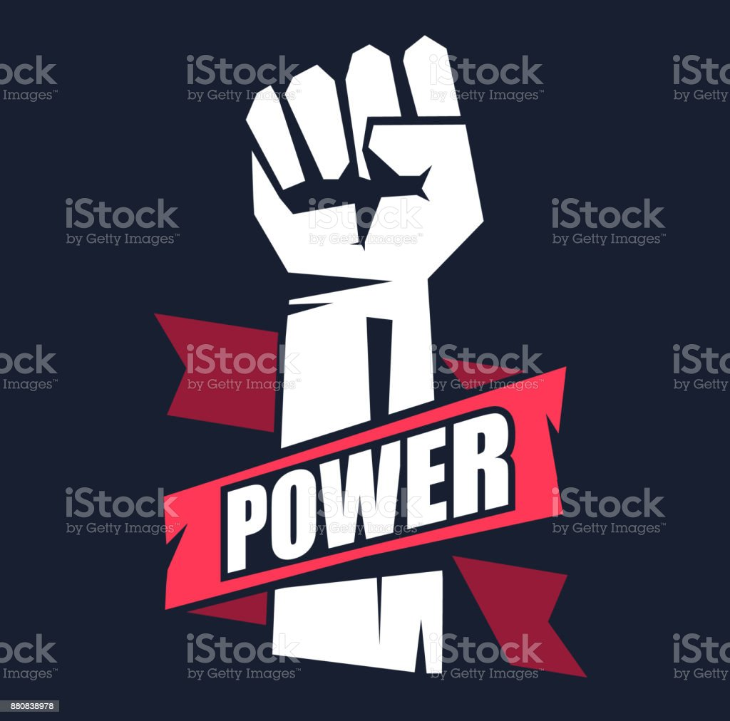 Fist male hand, proletarian protest symbol. vector art illustration