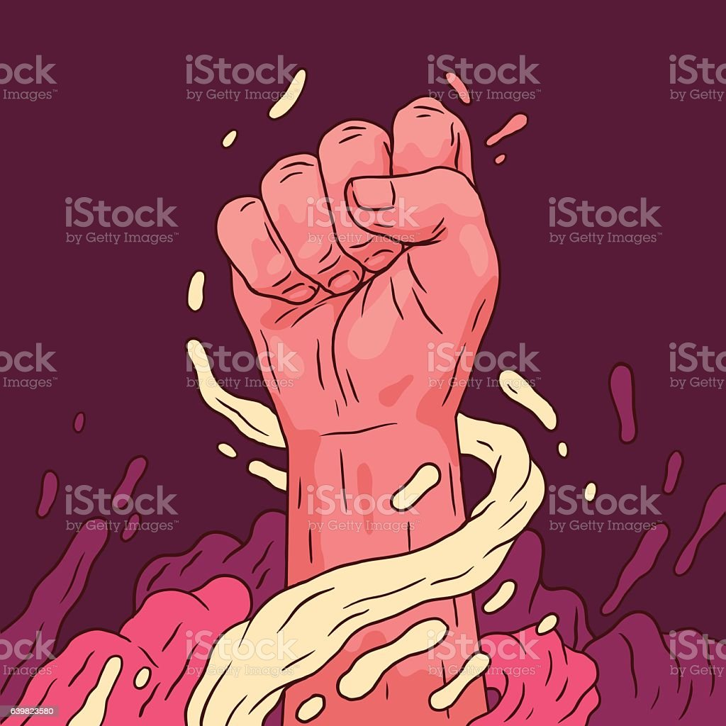 Fist Power vector art illustration