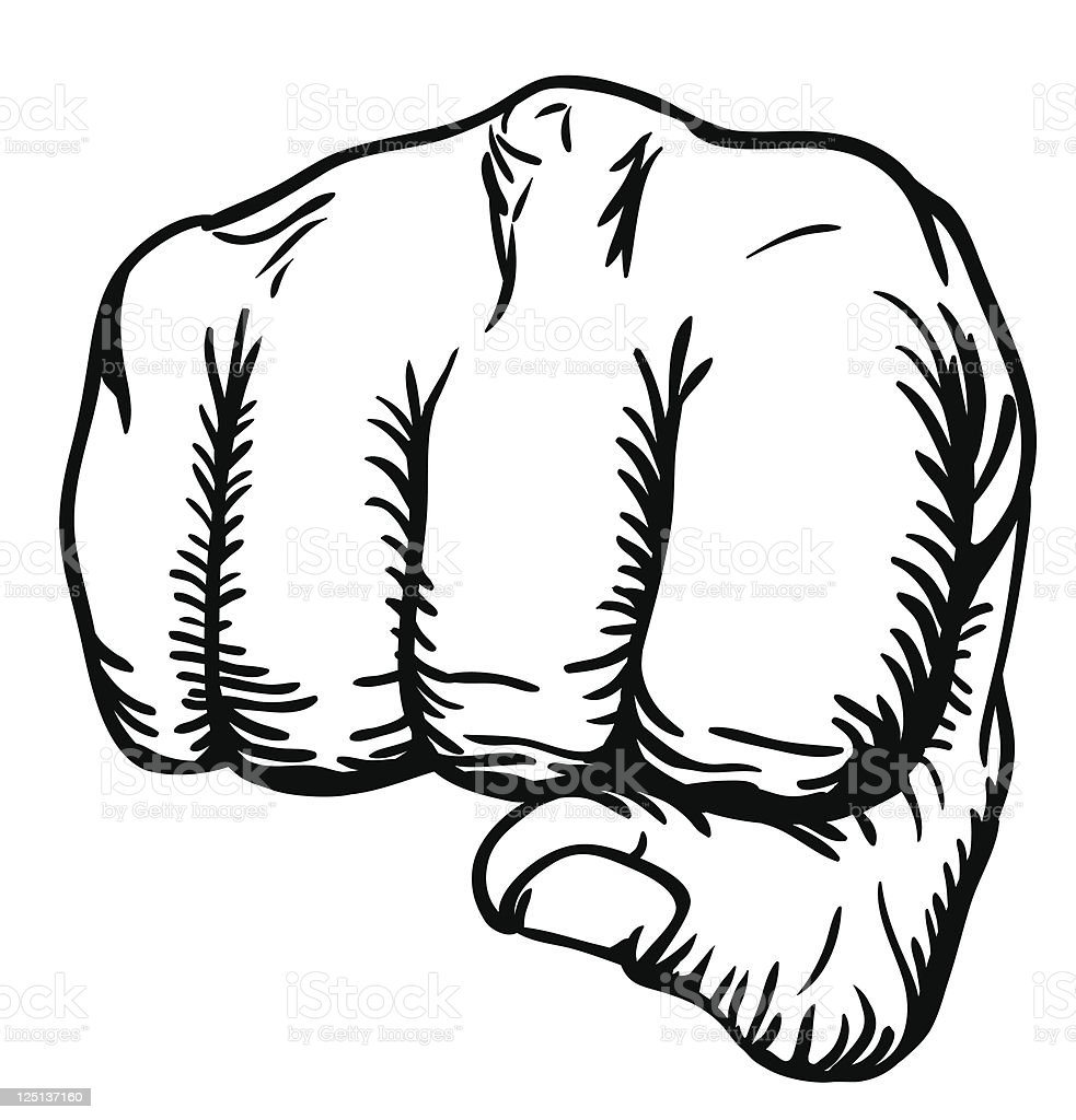 fist punching royalty-free stock vector art