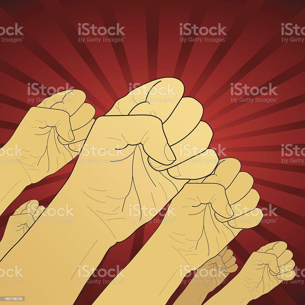 Fist revolution vector art illustration
