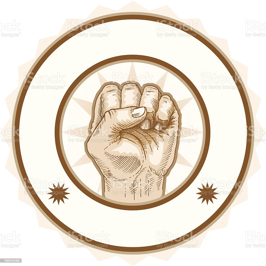 Fist Seal royalty-free fist seal stock vector art & more images of aggression