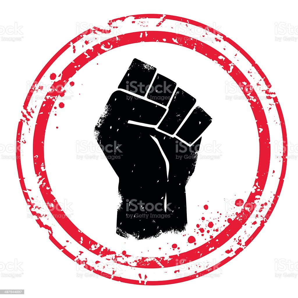 Fist stamp vector art illustration