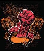 Rose Revolution. Hand Drawn illustration.