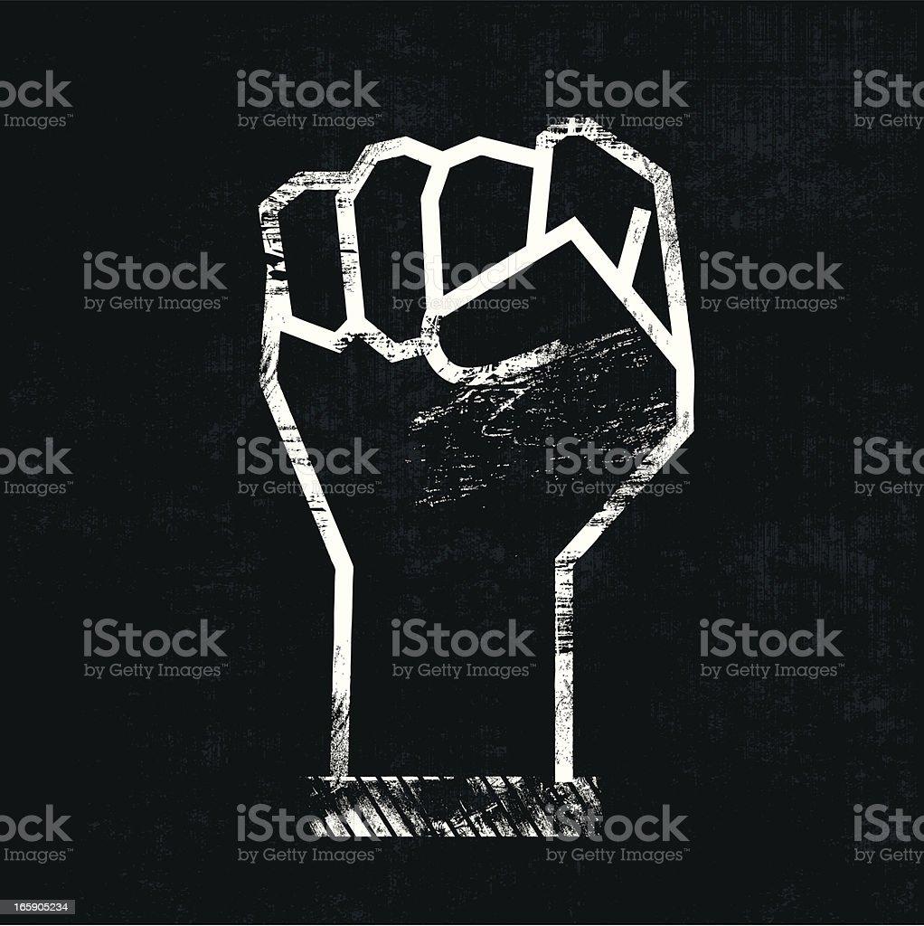 Mão em punho - ilustração de arte em vetor