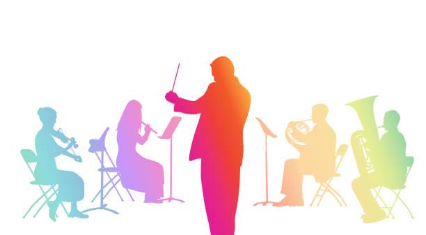 bildbanksillustrationer, clip art samt tecknat material och ikoner med knytnäve violin regnbåge - orkester