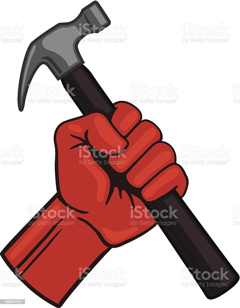 Fist With Hammer Stock Illustration Download Image Now Istock
