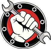 Fist with Wrench