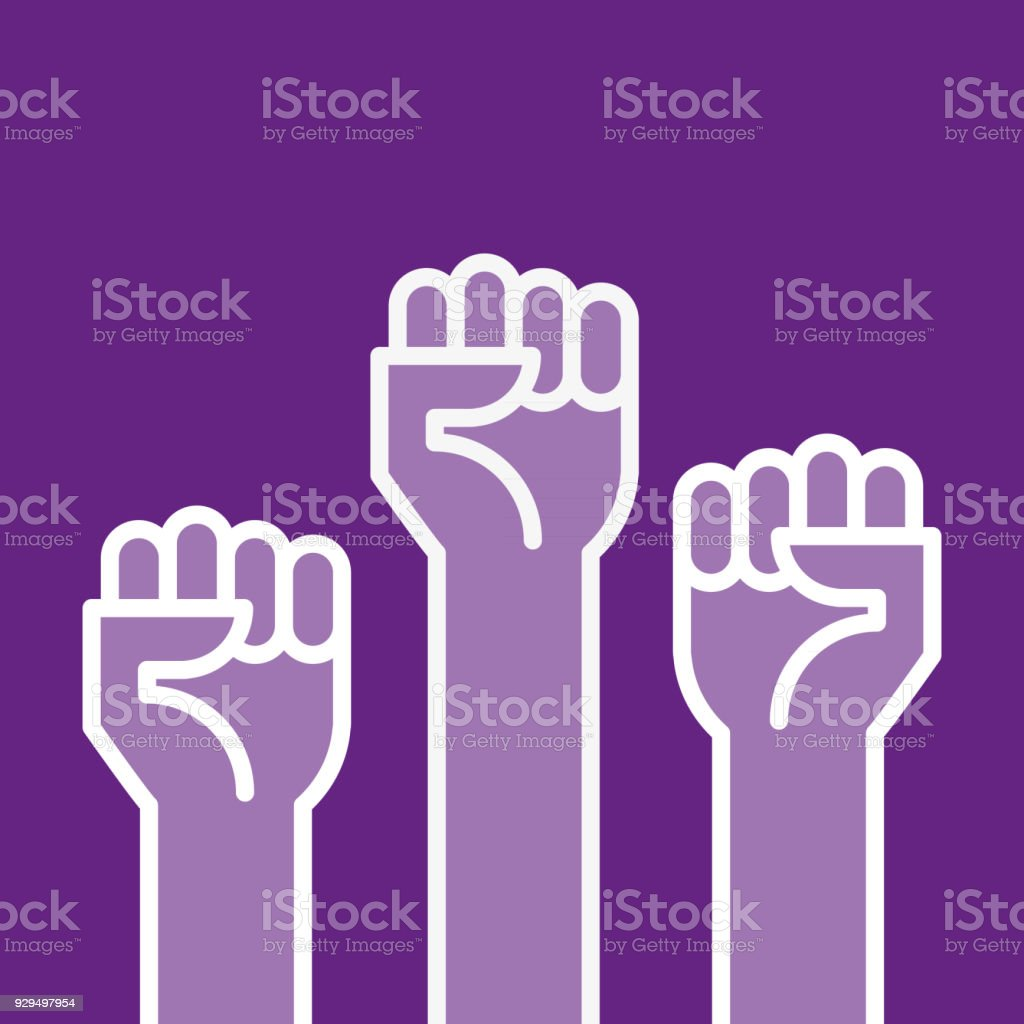 Fists Hands Up Vector Illustration Concept Of Unity