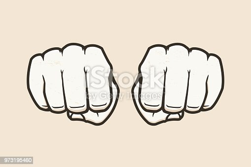 Human fists vector illustration