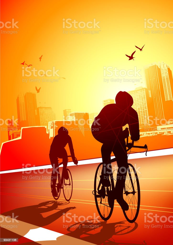 Fit for Life - cycling royalty-free fit for life cycling stock vector art & more images of activity