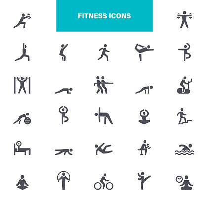 Fitness Activities Black Icons