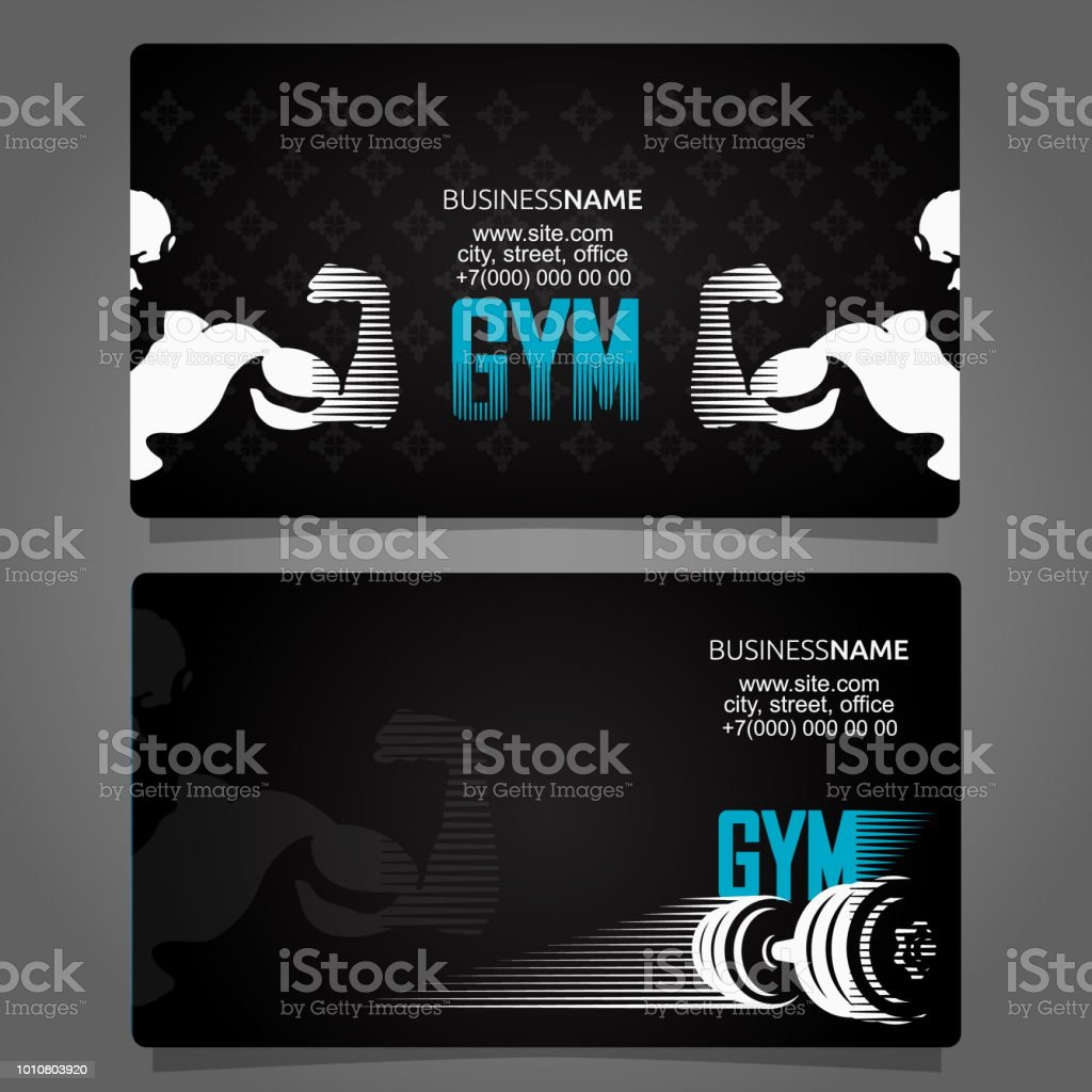 Fitness And Gym Business Card Stock Vector Art & More Images of ...