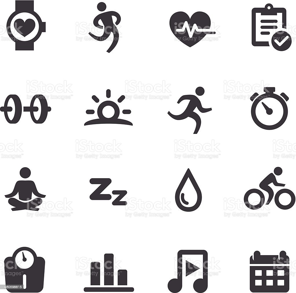 Fitness and Healthy Icons - Acme Series vector art illustration
