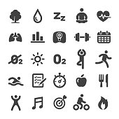 Fitness and Healthy Icons Set - Smart Series