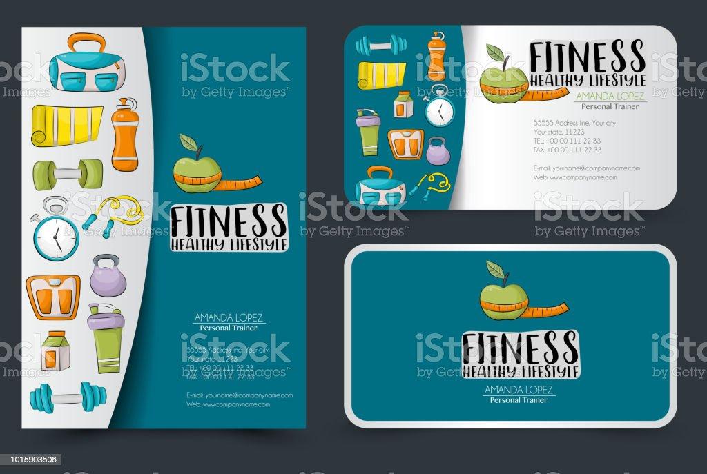 Fitness Und Gesunde Lebensweise Corporate Identity Design