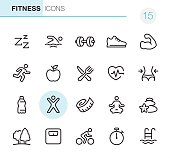 20 Outline Style - Black line - Pixel Perfect icons / Set #15