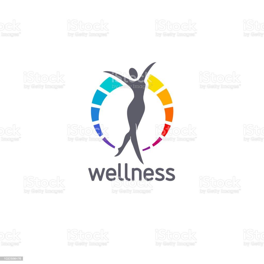 Fitness and wellness vector design element. Women health vector art illustration