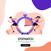 istock Fitness and Workout Concept Banner Design. Modern Flat Style Vector Illustration 1280518598