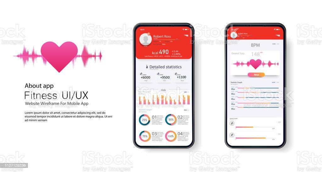 Fitness App Ui Ux Design Ui Kit Design Concept With Web