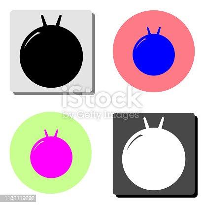istock fitness ball kangaroo. flat vector icon 1132119292