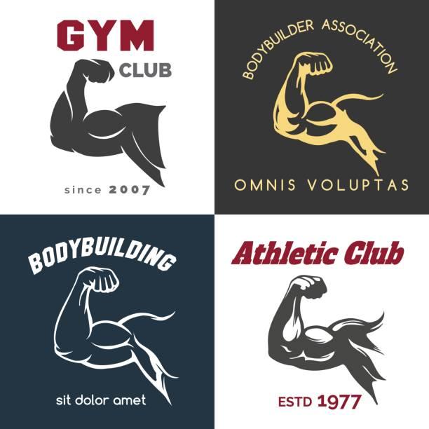 Fitness center icon set vector art illustration
