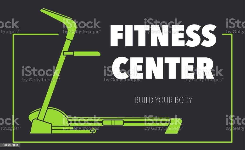 Centre De Fitness Construire Votre Corps Sur Un Fond Sombre La Silhouette D