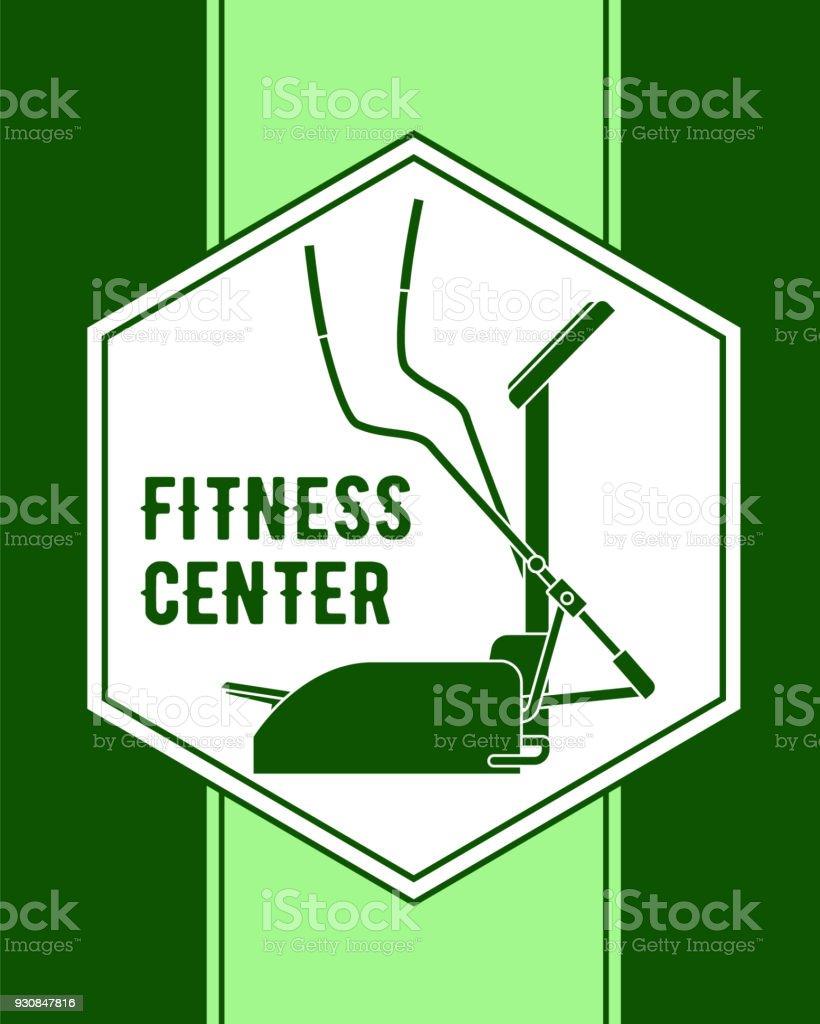 Centre De Fitness Sur Un Fond Vert Dans Une Image Silhouette Hexagone D