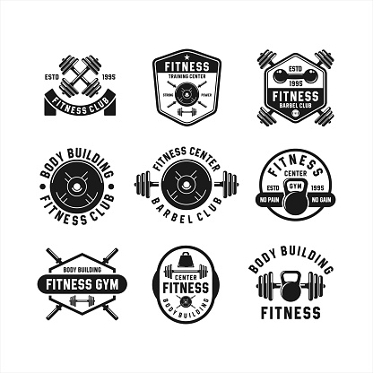 Fitness Club Body Building Logos